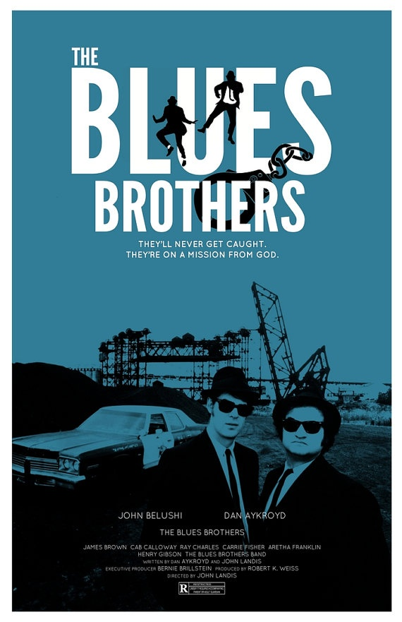 """The Blues Brothers"", de John Landis. Musique par Ira Newborn et Elmer Bernstein."