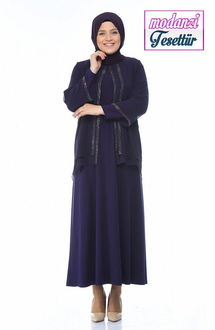 Sefamerve Buyuk Beden Abiye 2020 Buyuk Beden Tas Baskili Abiye Elbise 3149 03 Mor 2020 Elbise Elbise Modelleri Mor