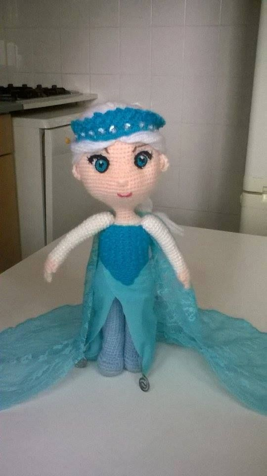 The original free pattern is a toddler version I wanted the older version my niece was very happy with her frozen doll