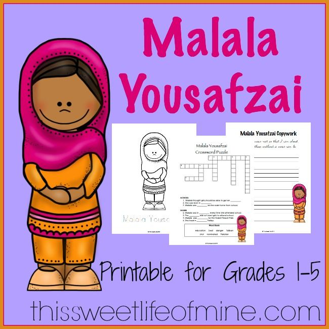 Malala Yousafzai is an amazing young women who has dedicated her life to fighting for women's education. Tara at This Sweet Life has a brand new freebie all about Malala. With puzzles, copywork, and report forms, there are several learning activities to choose from! >>Download your free printable here.<< The following two tabs change content …