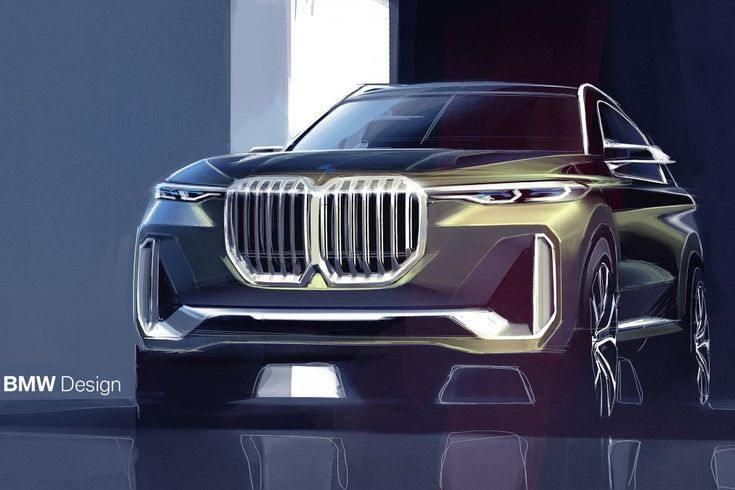 BMW X7 Concept - front sketch