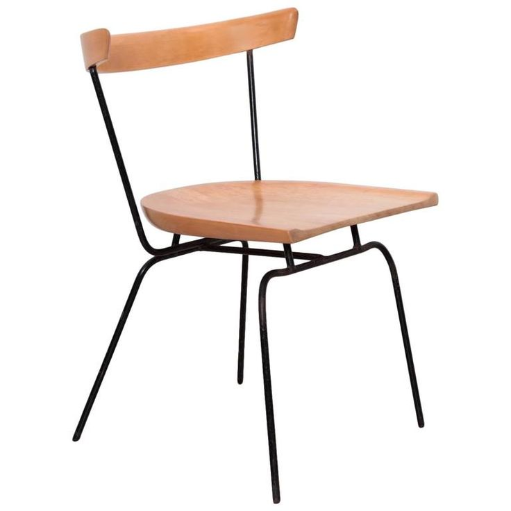 Paul McCobb 1535 Iron and Maple Dining Planner Group Chair | 1stdibs.com