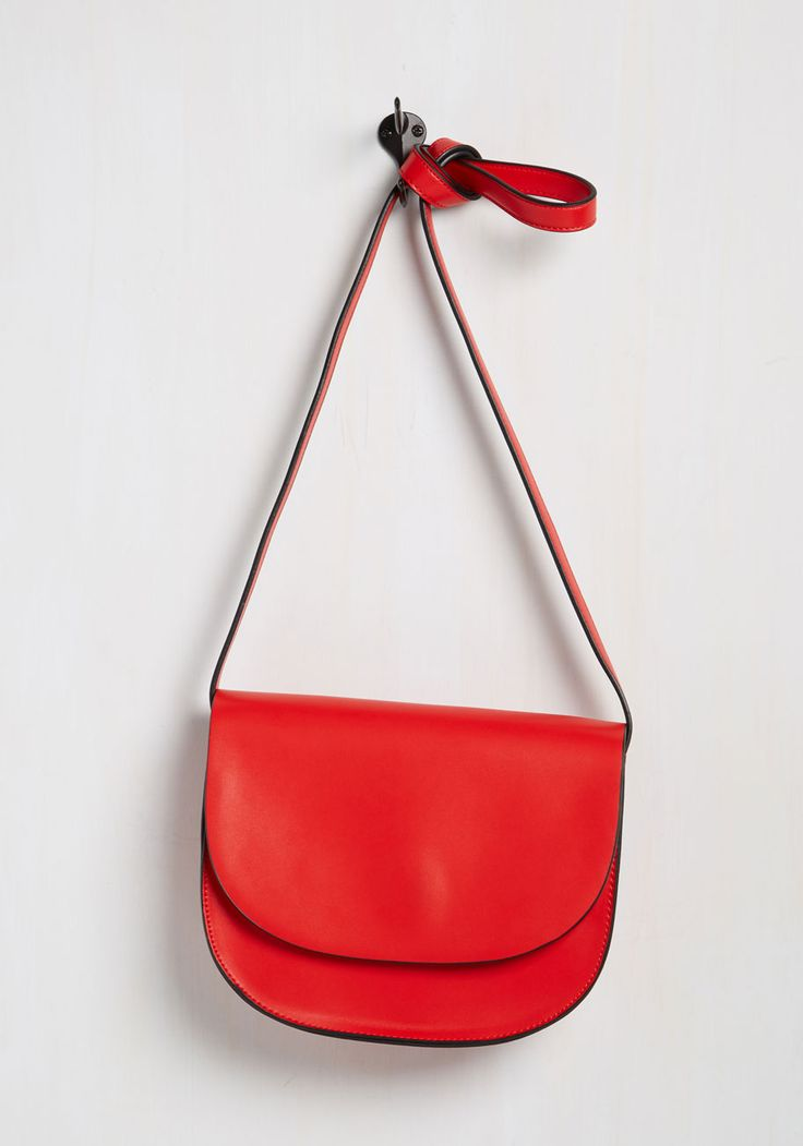To-Do Minimalist Bag - Red, Party, Work, Casual, Cocktail, Girls Night Out, Holiday Party, Daytime Party, Vintage Inspired, Summer, Good, Saturated, Faux Leather, Solid