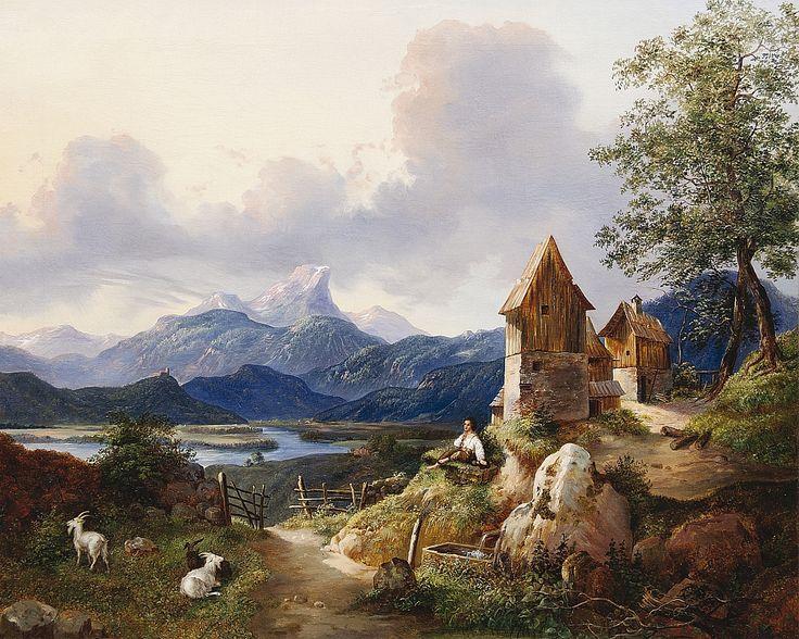 Antonín Mánes-Pasáček koz-1828--Otec a syn Mánesové na jedné aukci | Artplus.cz
