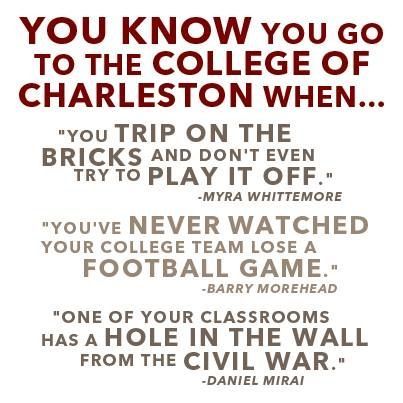 My Alma Mater-College of Charleston❤️