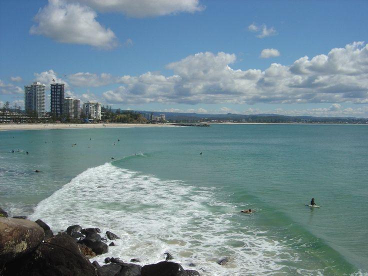Greenmount Beach from North Rainbow Bay Headland, Coolangatta, Gold Coast, Australia
