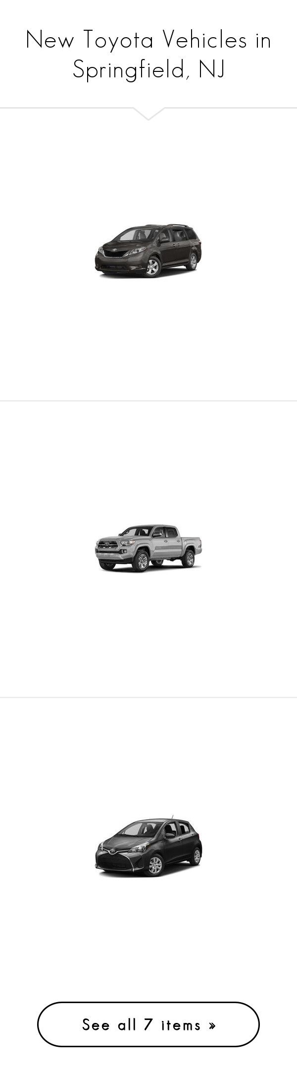 """New Toyota Vehicles in Springfield, NJ"" by autolandtoyota ❤ liked on Polyvore"