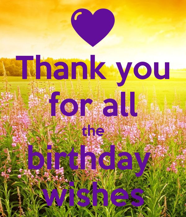 'Thank you for all the birthday wishes' Poster