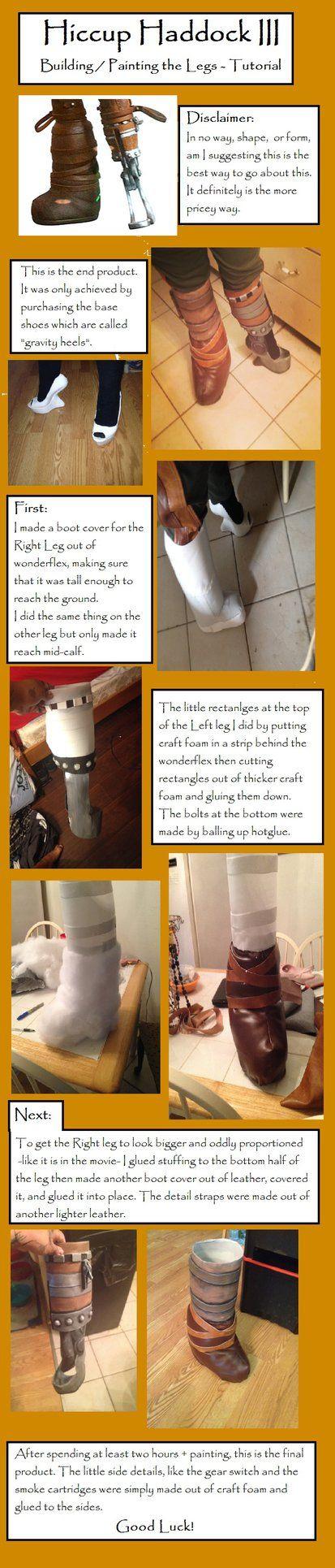 HTTYD 2 - Hiccup's Legs Tutorial by SasukeTheEmoKing