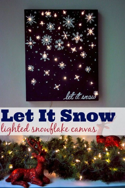 Best 25 light up canvas ideas on pinterest lighted canvas 30 magically festive string and fairy light diys for christmas decorating sciox Images