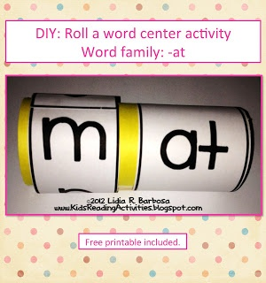 DIY: Roll A Word Activity  FREE printables included :)