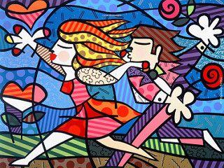 Romero Britto - Love Blossoms | by TeresaH12~~~bizzyazabee