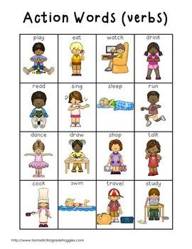 Action Words (verbs) $
