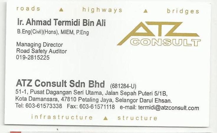ATZ Consult Sdn Bhd - Ir. Ahmad Termidi Bin Ali