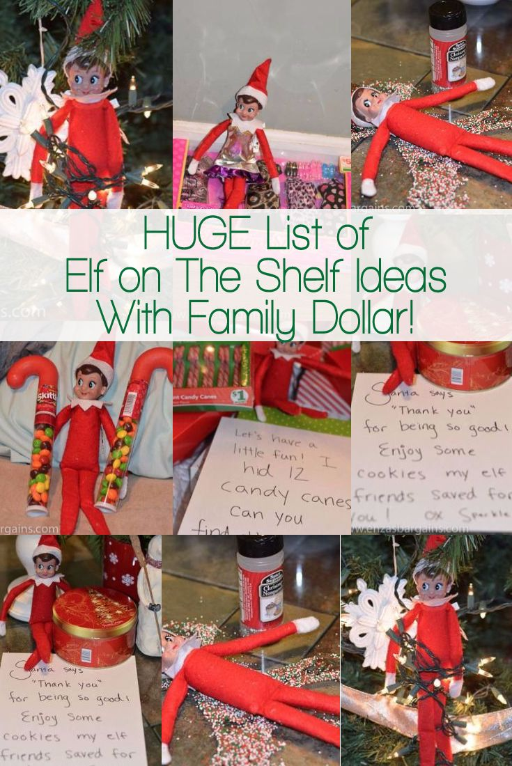 Elf on the Shelf Family Dollar Ideas!  One trip to the store will get you days worth of fun!  Use #FDSmartCoupons to save money too! #ad
