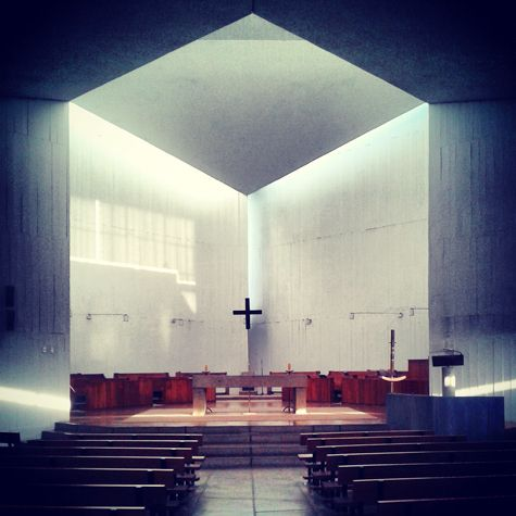 Intersecting cubes at El Monasterio de los Benedictinos - Santiago, Chile