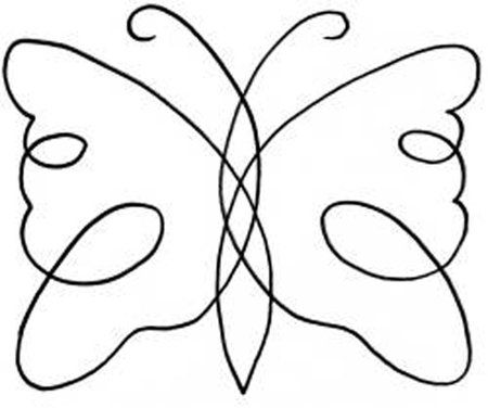 "free machine quilting stencils | ... Shop | Category: Quilting Stencils | Product: 5"" Continuous Butterfly"