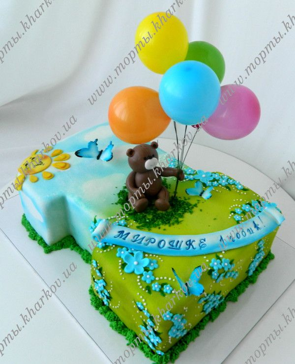 Торт единичка для мальчика на годик