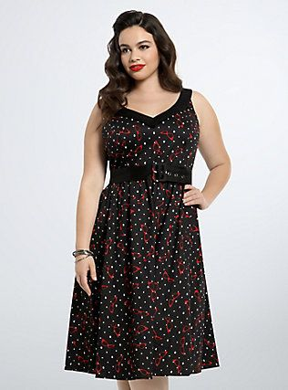 Retro Chic Sunglasses Swing Dress, CAT VISION