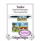 Bead Pattern Peyote(Pen Wrap/Cover)-Realtor