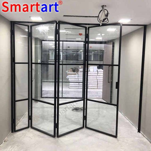 Source Economic Frameless Folding Door 12mm Glass Door Sliding Bi Fold Door On M Alibaba Com Folding Doors Folding Glass Doors Folding Doors Exterior