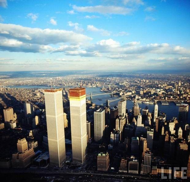 World Trade Center w budowie, Nowy Jork, 1971 r.