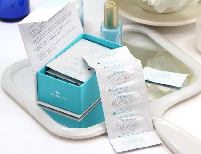 BE YOU. BE FLAWLESS. Instantly Ageless is an age-defying microcream that works quickly and effectively to diminish the visible signs of aging. Within 2 minutes, it reduces the appearance of under-eye bags, fine lines, wrinkles and pores, and  6 to 9 hours. This anti-aging micro cream targets areas that have lost elasticity — revealing visibly toned, lifted skin.  http://www.jeeraporn459.jeunesseglobal.com
