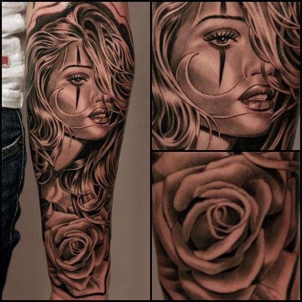 Tattoo by jun cha at lowrider tattoo studios in fountain for Inked temptations tattoo studio
