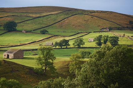 Wharfedale in the Yorkshire Dales National Park, England