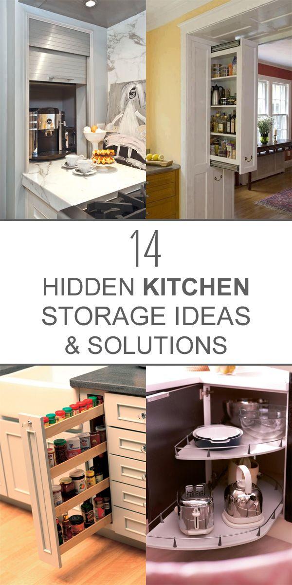 14 Clever Hidden Kitchen Storage Ideas Solutions Hidden