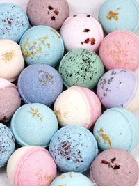 Bath Bombs: Recipes and instructions:  Basic Bath Bomb Recipe, Water Softening Fizzy, Moisture Rich Fizzy, Fizzy Milk Bath Bombs, Tub Tints, & Super Moisturizing Bath Fizzy.