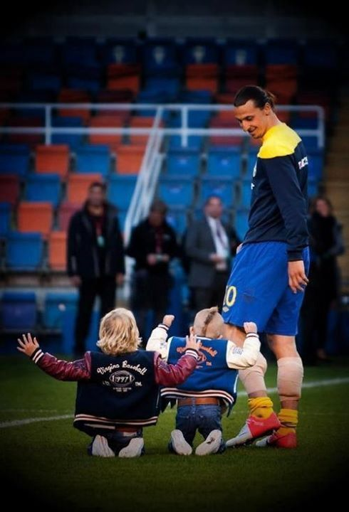 Zlatan and his kids