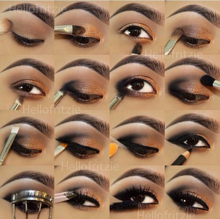 Easy step by step smokey eye makeup | Hár og make up ...