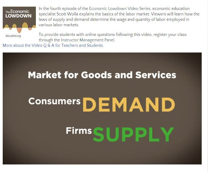 47 best free economics lessons images on pinterest economics in this video learn how the laws of supply and demand determine the wage and quantity of labor employed in various labor markets fandeluxe Image collections