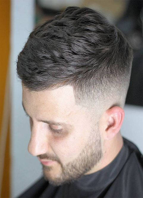 Short Hair With Mid Fade Men S Hairstyles Men Cuts Crop Haircut