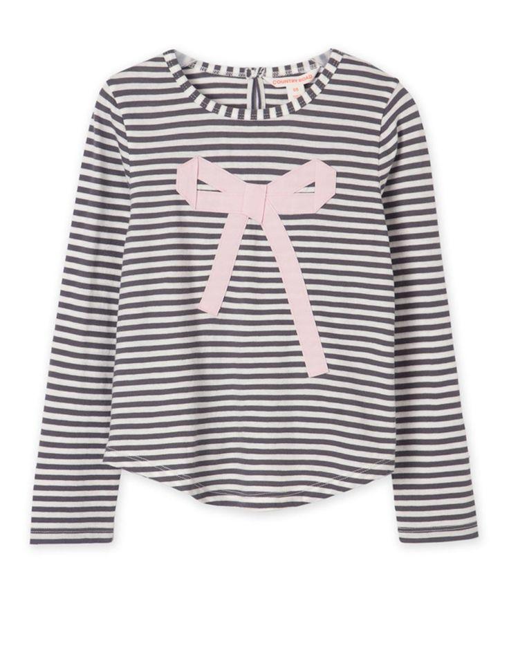 Stripe Bow T-Shirt