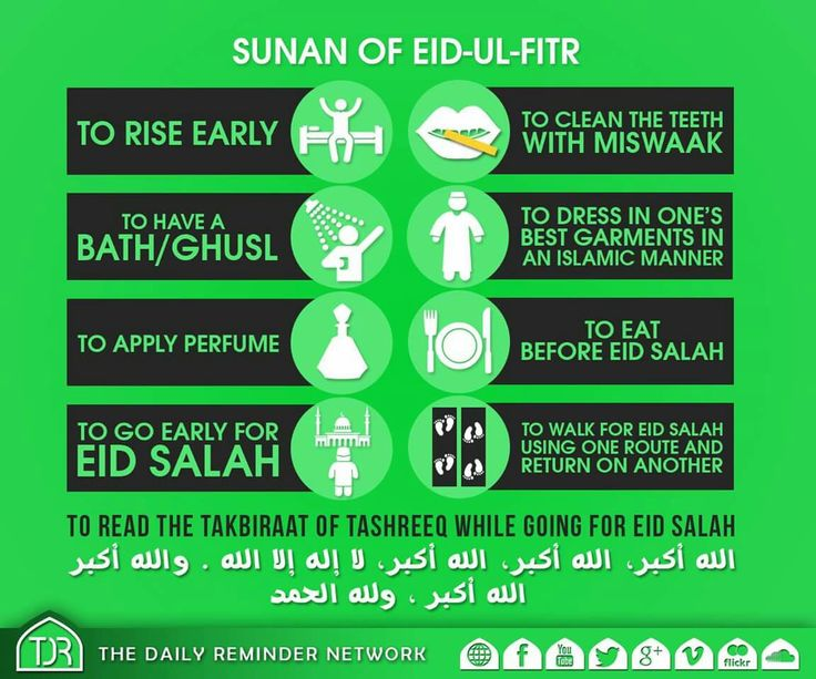 Sunnah of Eid-Ul-Fitr. #Allah #Alhumdulilah #Islam #Muslim #Ramadan #Sunnah