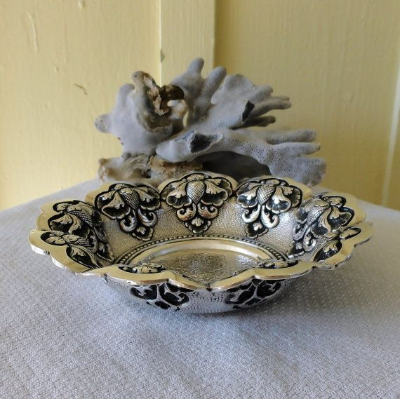 Dutch East Indies Djokja Silver Lotus Design by SilverFoxAntiques, $250.00