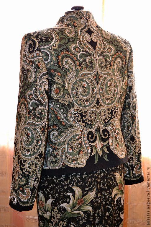 идея платья из павлопасадских платков
