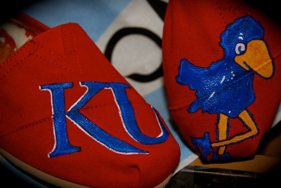 College Mascot TOMS by ShoeDesignsByAllison on Etsy, $90.00