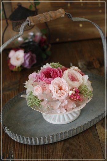 【今日の贈花】お宅訪問の手土産に・・・|Flower note の 花日記 (横浜・上大岡 アレンジメント教室)