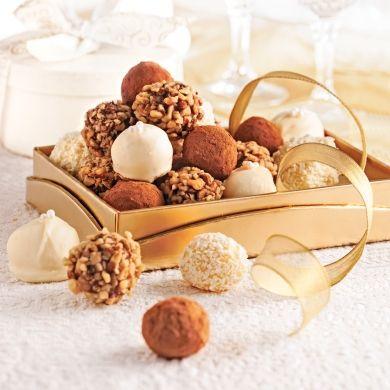 Duo de truffes au chocolat - Recettes - Cuisine et nutrition - Pratico Pratiques - Noël - Dessert