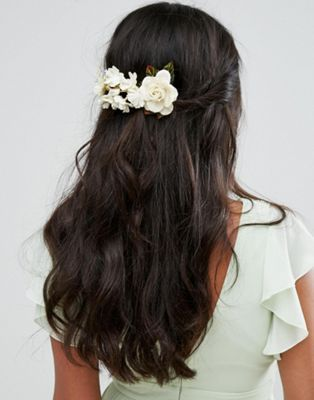 Her Curious Nature Blossom and Pearl Hair Clip