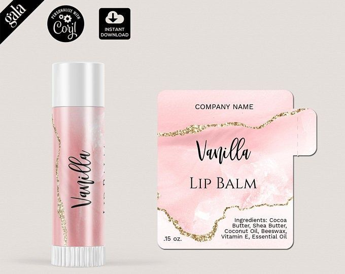 Pin By Gabriela Zaragoza On Beautful Things Lip Balm Labels Lip Balm Labels Template The Balm