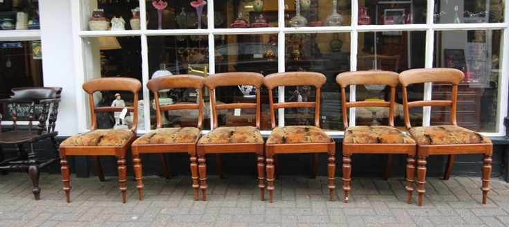 19TH CENTURY SET OF 6 MAHOGANY CHAIRS