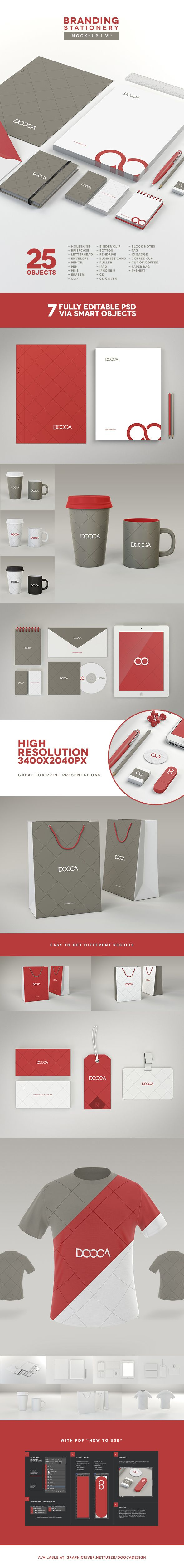 #Branding / #Stationery Mock-up on Behance