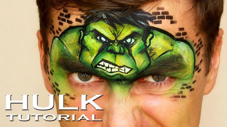 "Incredible Hulk — Face Painting Tutorial — Аквагрим ""Халк ..."
