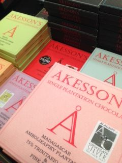 Akesson's Chocolate at The Chocolate Show. Beautiful packaging hiding beautiful bars.
