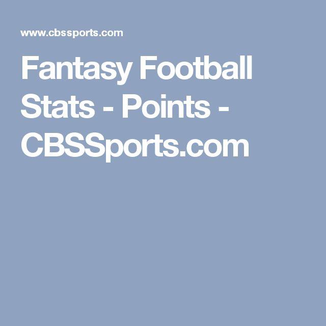 Fantasy Football Stats - Points - CBSSports.com
