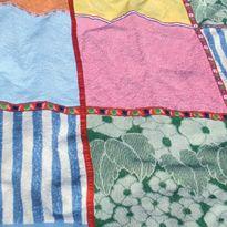 Picknickkleed van oude handdoeken/theedoeken.